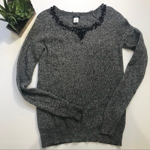 J. CREW Lamb's Wool Sweater w/ Sequins on Neck